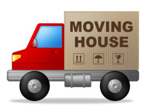 Moving House Shows Change Of Residence And Lorry